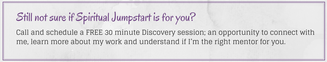 Spiritual Jumpstart discovery session
